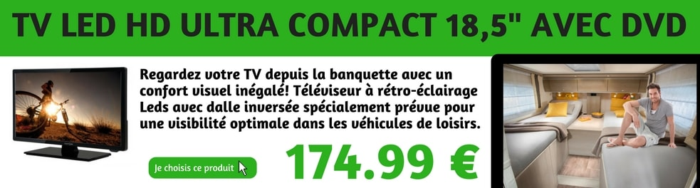 equipement camping car televiseurs 12 volts prix discount. Black Bedroom Furniture Sets. Home Design Ideas