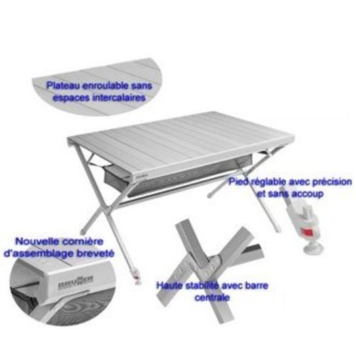 Table de camping titanium anthra ng 6 personnes for Table titanium quadra 6 personnes