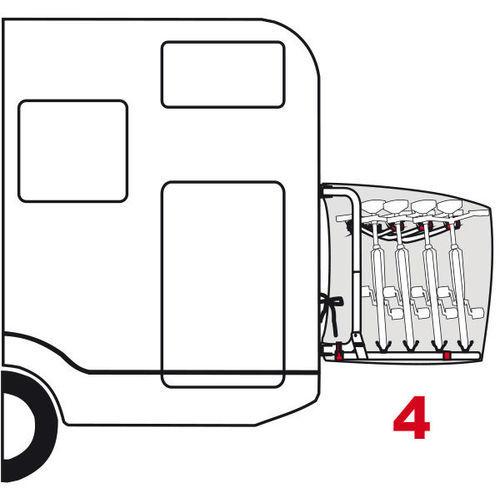 Housse porte 4 velos bike cover s 4 velos fiamma for Porte 4 velo camping car
