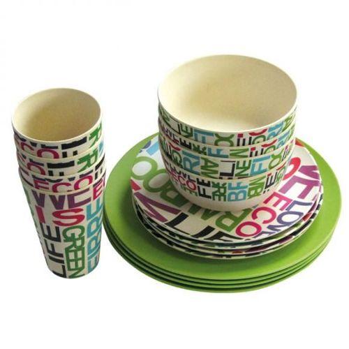 Equipement camping car vaisselles verres couverts prix for Set de table bambou