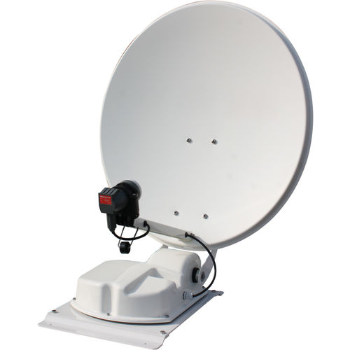 antenne satellite automatique exel 85 cm twin double tetes + 2 demodulateurs