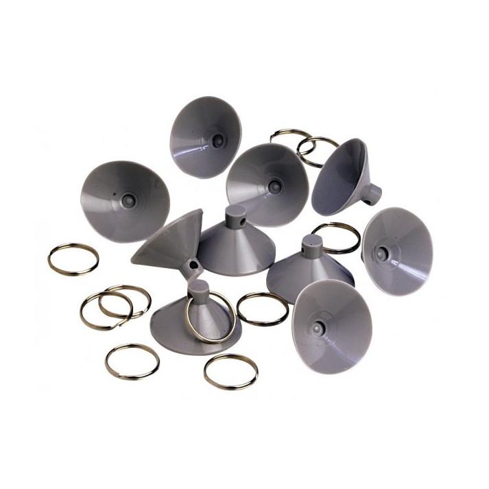 10 ventouses de rideaux isotherme avec anneaux. Black Bedroom Furniture Sets. Home Design Ideas