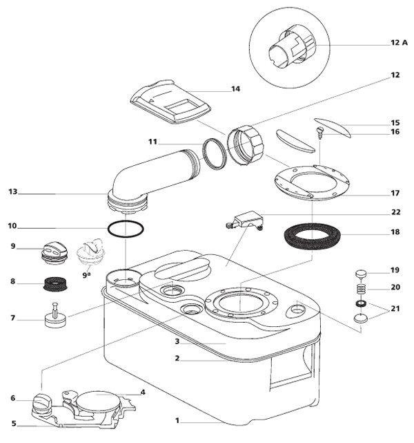 pi ces detach es wc et cassette wc thetford. Black Bedroom Furniture Sets. Home Design Ideas