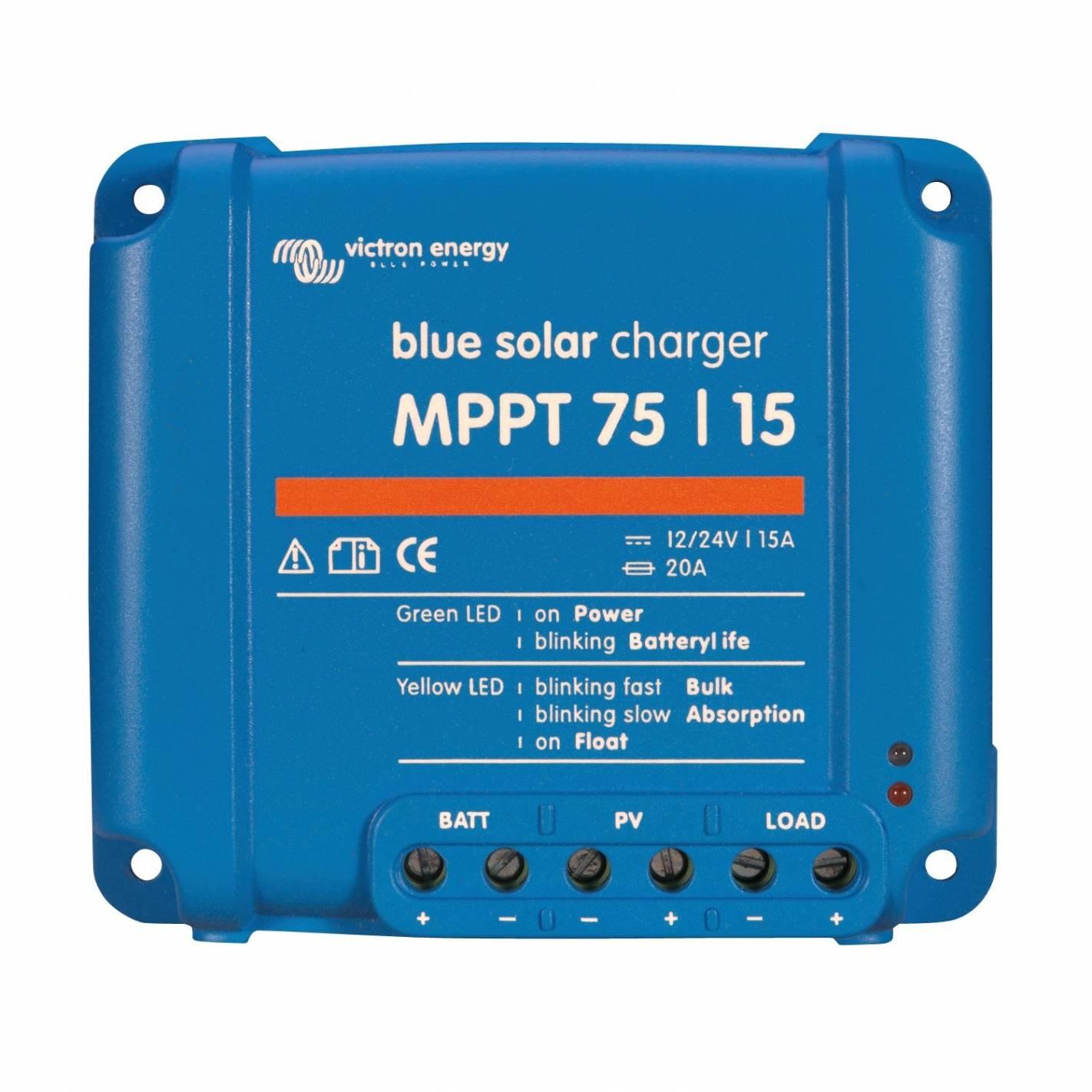 contrôleur de charge bluesolar mppt modèle 15a victron