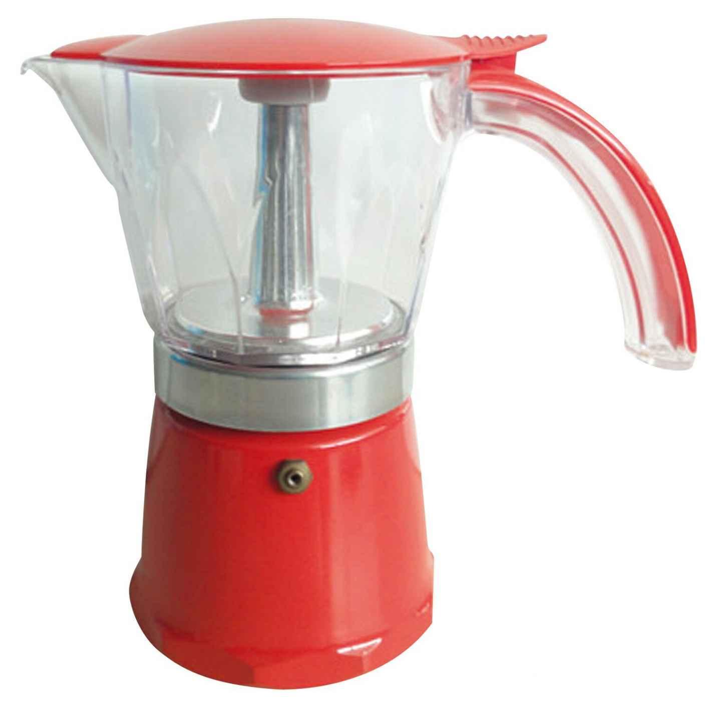 cafetière italienne rouge 6 tasses