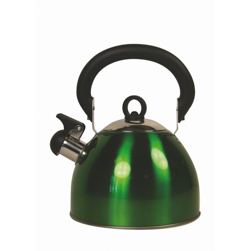 bouilloire 2.5 litres poignée rabattable - verte