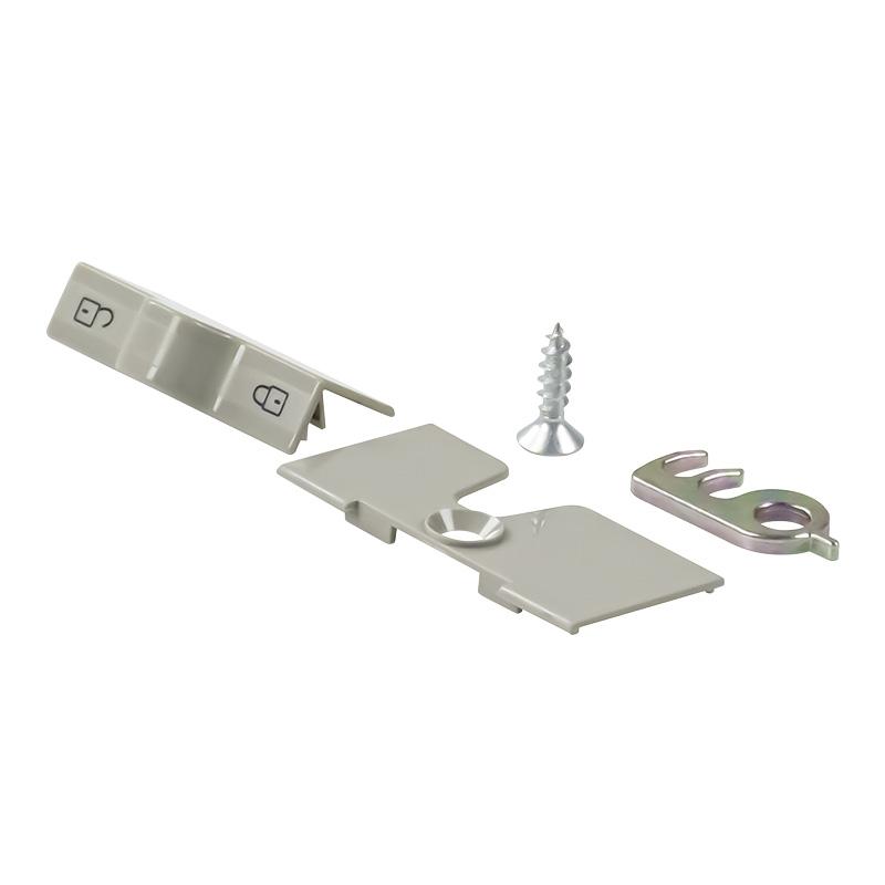 bloc porte gris pour refrigerateur avec porte courbee et double porte dometic série 7