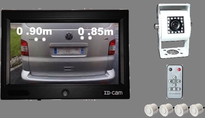 kit caméra de recul + radar de recul id cam 710 wp