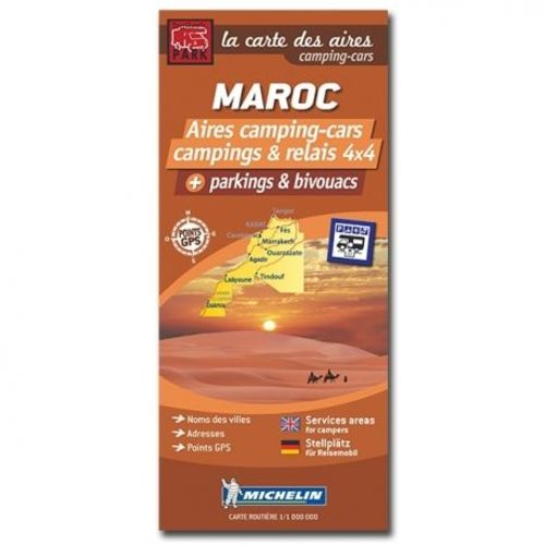 carte maroc des aires camping-cars, campings et parkings