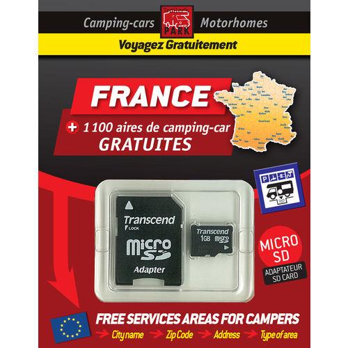 gps garmin - sd card france - aires et parkings gratuits