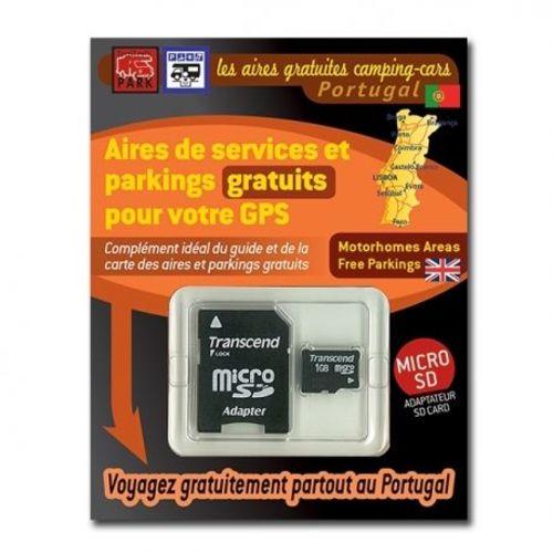 gps garmin - sd card portugal - aires et parkings gratuits