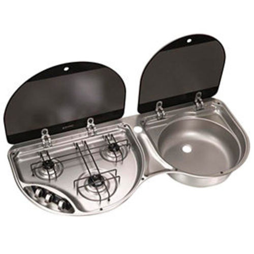 Equipement camping car r chauds et combin s de cuisson - Combine evier plaque de cuisson ...
