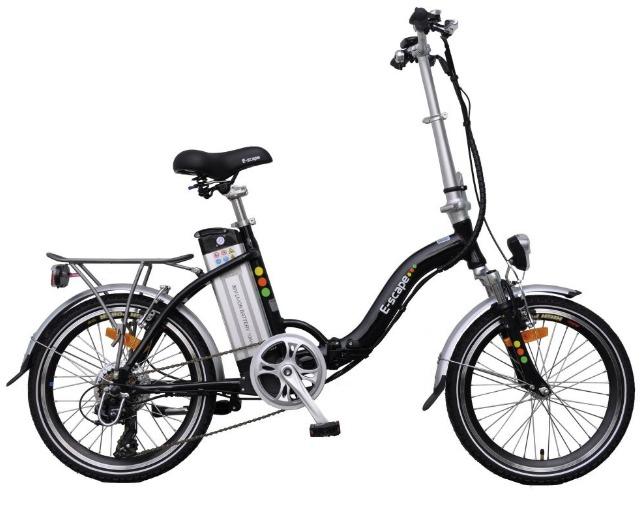 vélo pliant à assistance électrique 36v noir