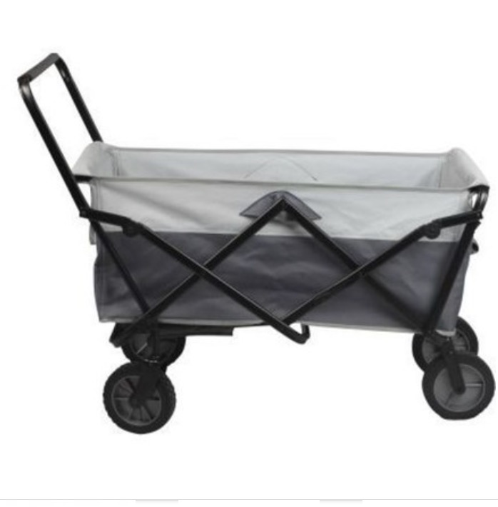 chariot de transport pliant gris trolley