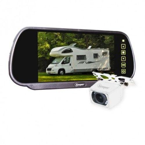 kit vidéo de recul avec écran rétroviseur 7 (caméra blanche)