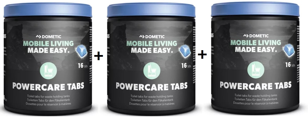 3 x power care tabs dometic x16 sachets