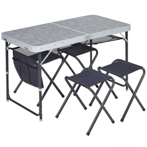 table valise + 4 tabourets trigano