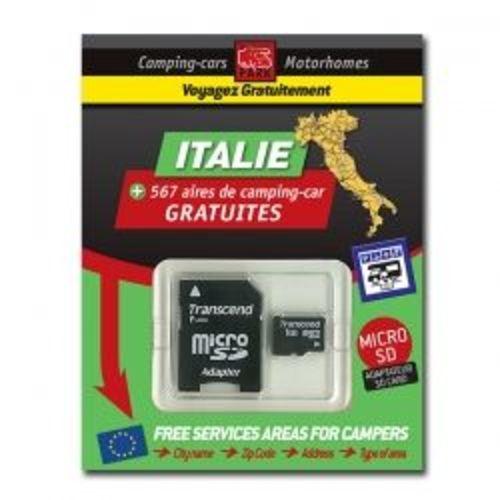 gps garmin - sd card italie des aires de camping-car gratuites