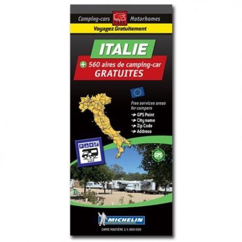 carte italie des aires de camping-car gratuites