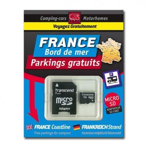 gps garmin - sd card france bord de mer - parkings gratuits