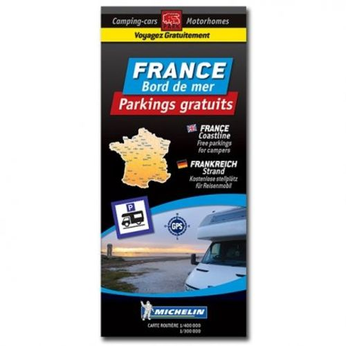 carte routière france bord de mer - parkings gratuits
