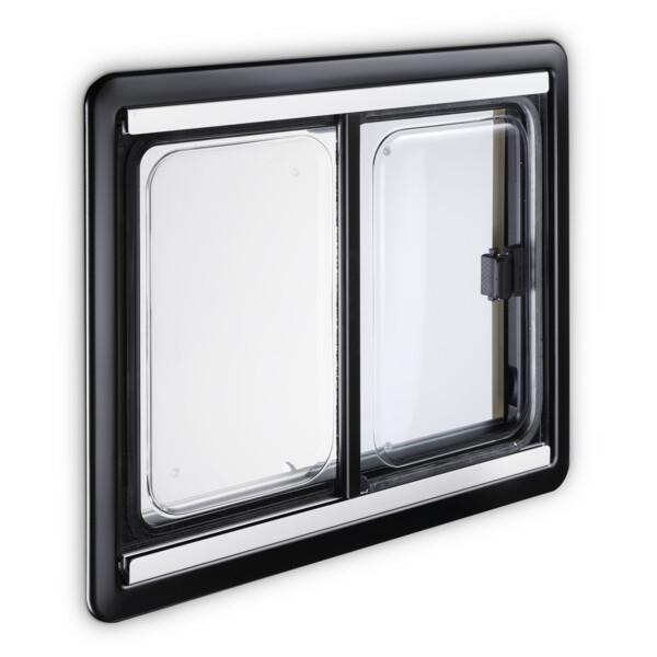 Baie coulissante s4 double vitrage acrylique 1100x450 for Vitrage phonique 10 16 4