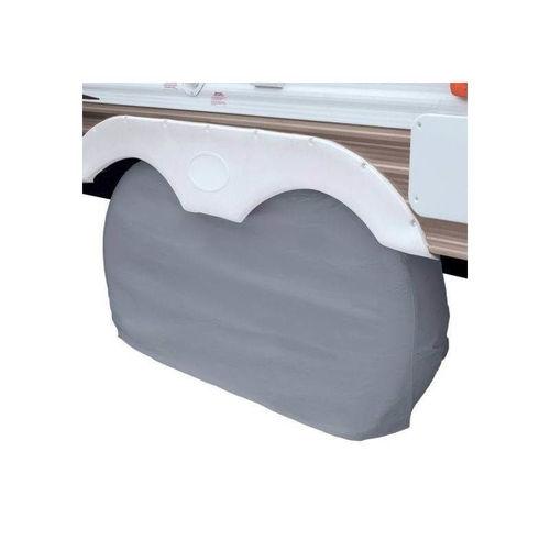 housses de roue double essieux - gris - taille s