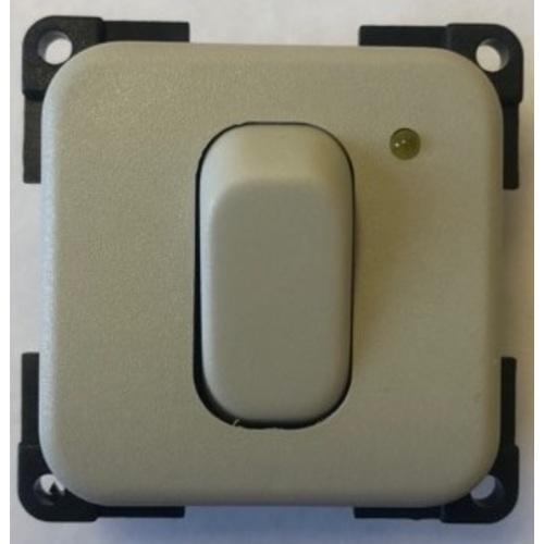 interrupteur 12 volts + voyant gris clair
