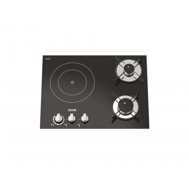 plaque de cuisson 2 feux gaz + 1 induction top line 981 - thetford