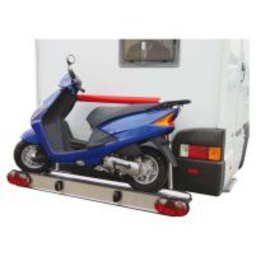 porte-moto alu gold pour véhicule avec porte-à-faux max. 1650 mm - alden
