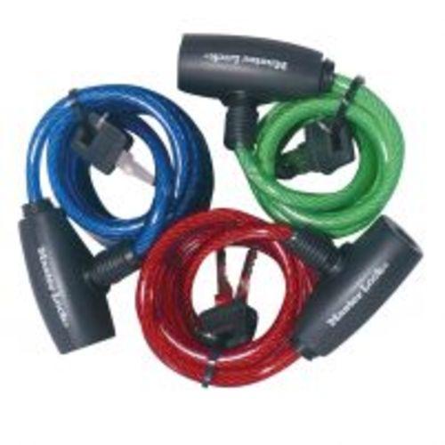 set 3 câbles antivols à clé - masterlock