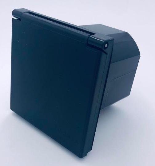 socle à encastrer p17 16 ampères noir