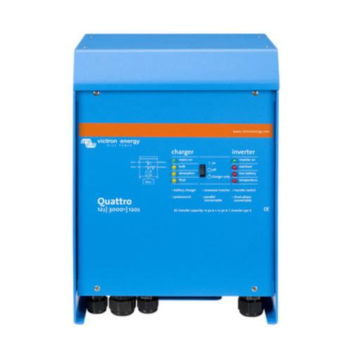 convertisseur- chargeur 230v quattro 12v/3000va/120-50/50 - pur sinus - victron energy
