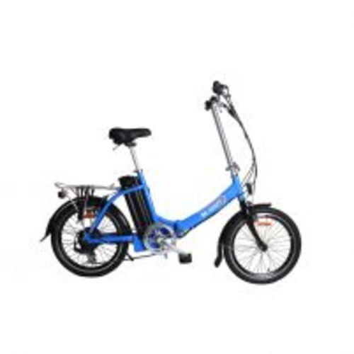 vélo à assistance electrique pliant 20'' 36v 10ah bleu clair - be-watt