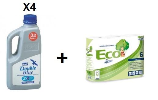 pack 4 produits wc  +  papier wc