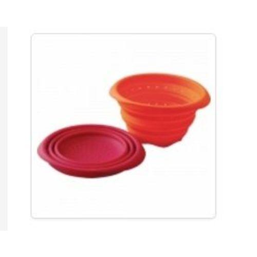 passoire orange retractable 100% silicone trés haut de gamme