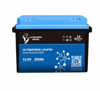 batterie lithium ultimatron lifepo4 smart bms 12.8v 200 ah