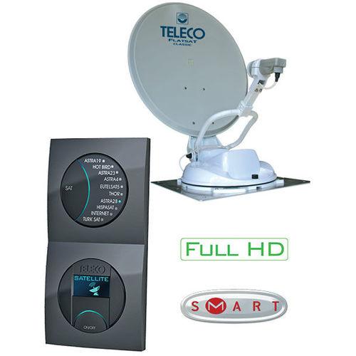 antenne satellite auto hd teleco flatsat classique-s 65 + demo hd