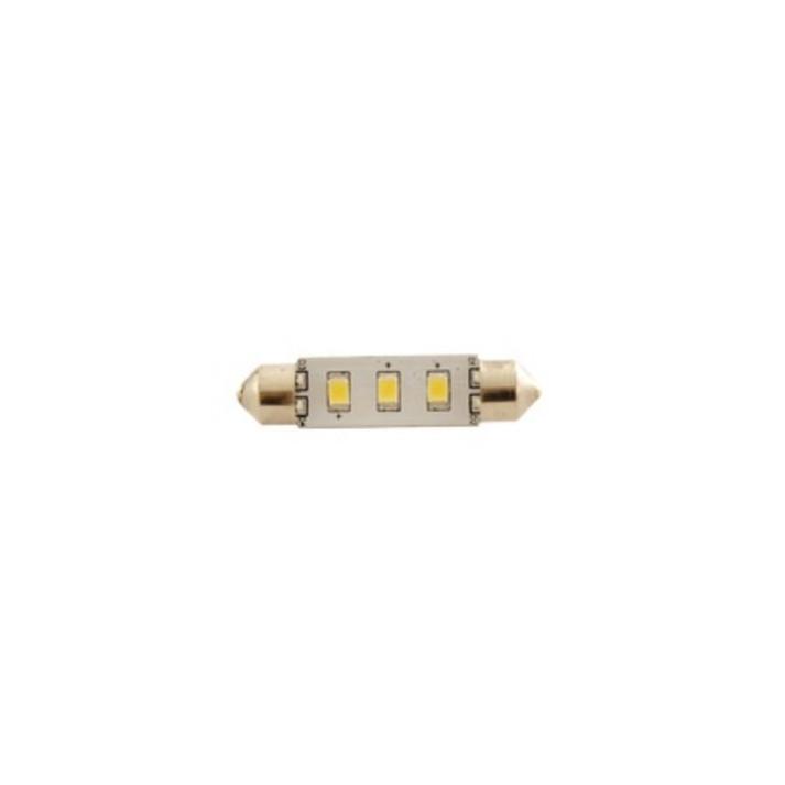 ampoule led navette 12 volts 1,3w 13x36mm vendu a l'unité