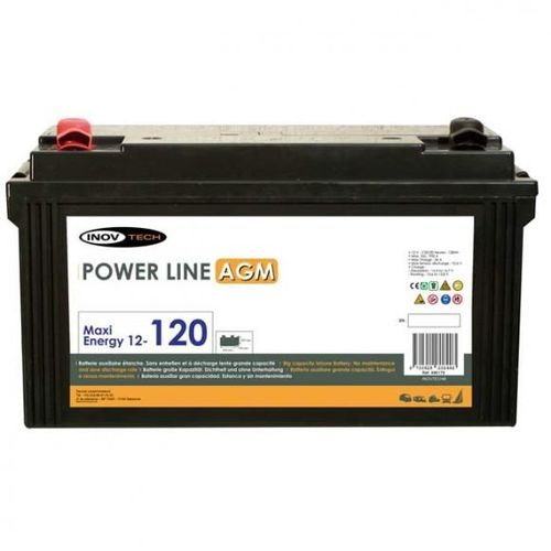 batterie camping car power line agm 120 a/h