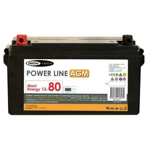 batterie camping car power line agm 80 a/h
