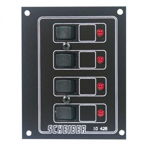 panneaux à disjoncteurs thermiques auto-réarmables 4 circuits scheiber