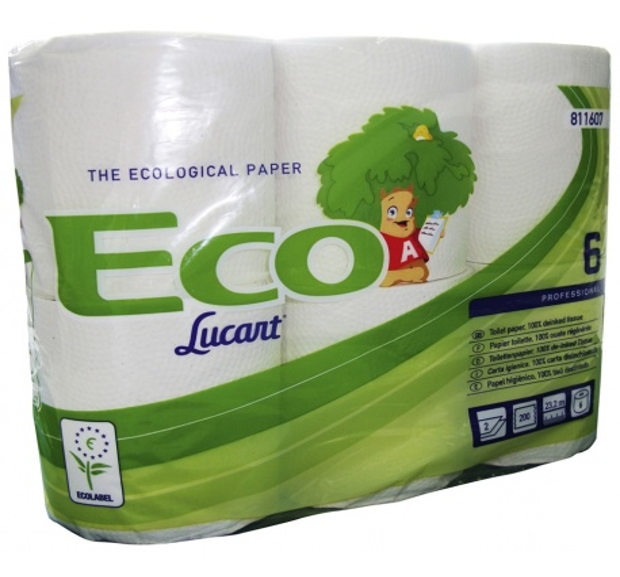 papier toilette eco 6 rouleaux 2 couches