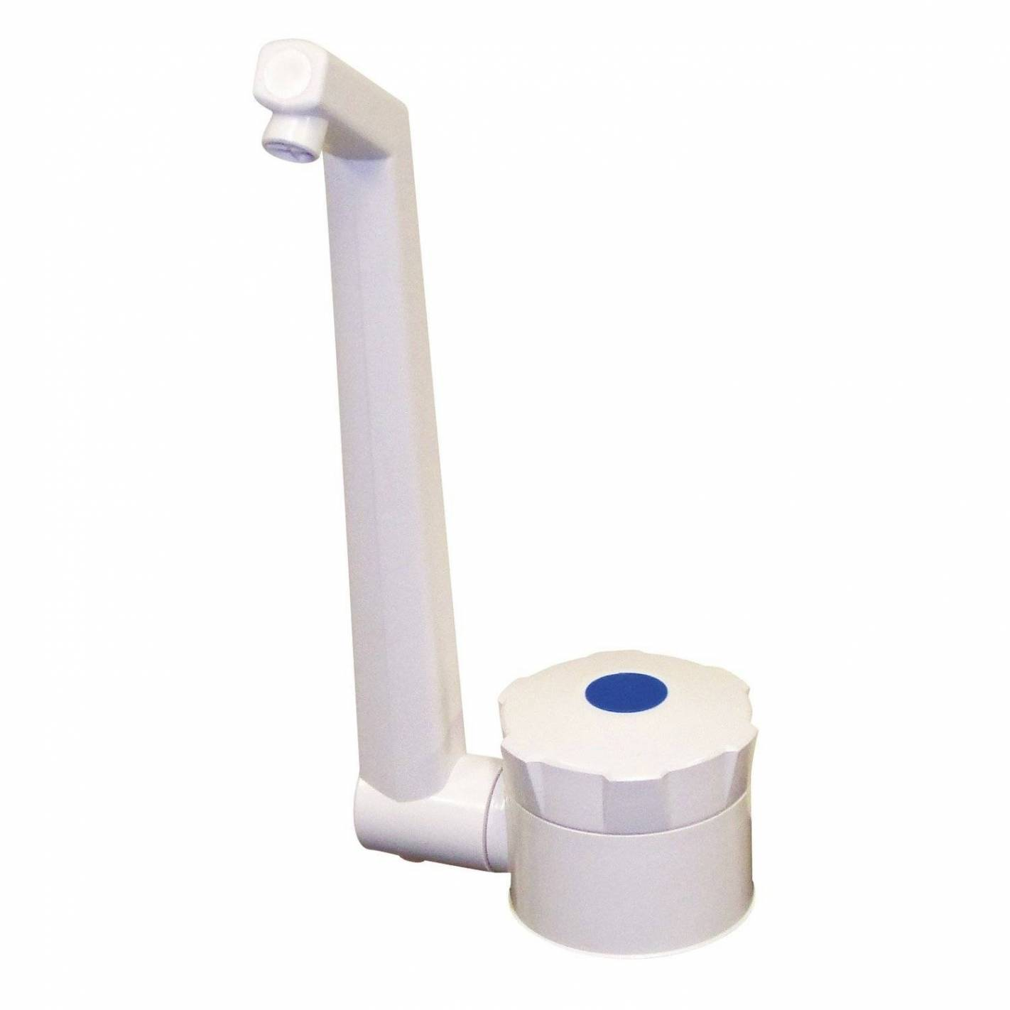 robinet contacteur rabattable blanc