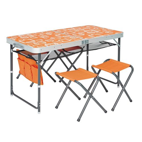 Meuble de plein air pour camping table chaise pas cher for Table pliante avec chaises integrees