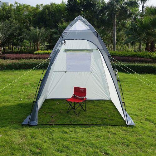 Equipement camping car auvent independant caravane auvent for Tente garage auto