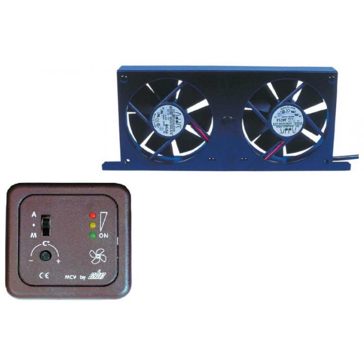 double ventilateur tornado + panneau controle mcv/2