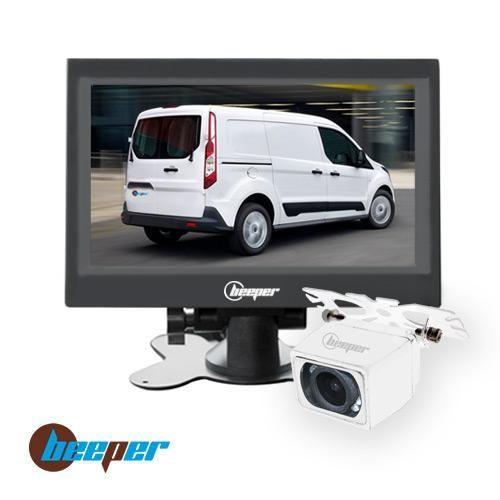 caméra de recul haut de gamme beeper écran 7 camera blanche rw7 b