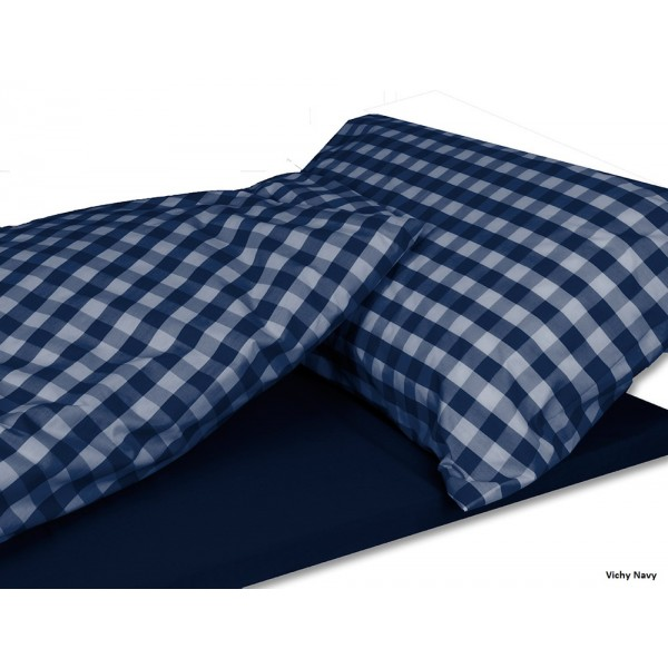 couchage navy vichy duvaley