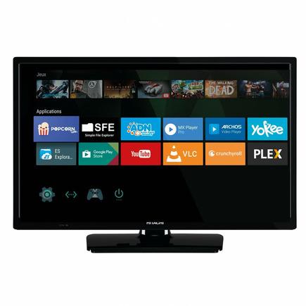 1472645 smart tv connectee televiseur led hd ready 100 hz modele 24 60cm hitachi